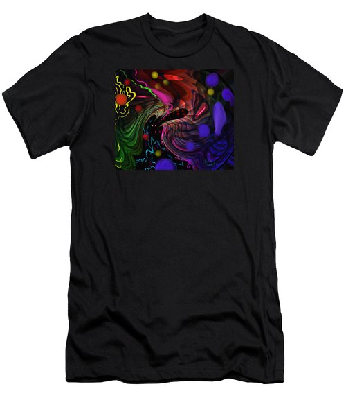 Space Rocks Men's T-Shirt (Slim Fit) by Kevin Caudill