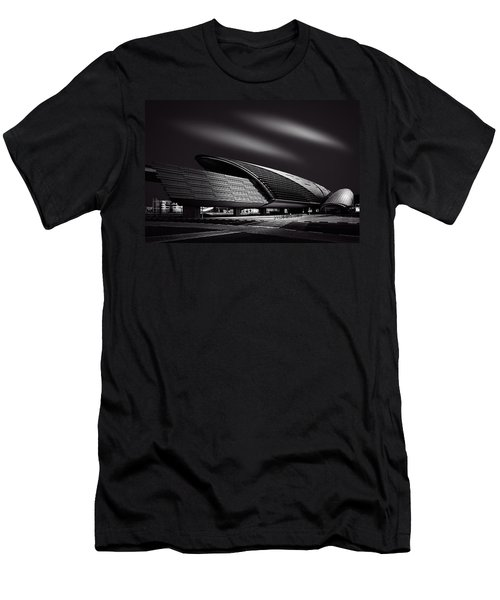 Dubai Metro Station Mono Men's T-Shirt (Athletic Fit)