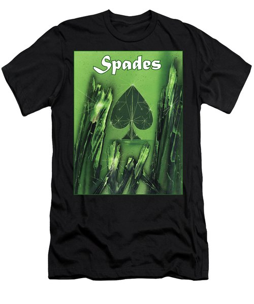 Men's T-Shirt (Athletic Fit) featuring the painting Spades Suit by Jason Girard