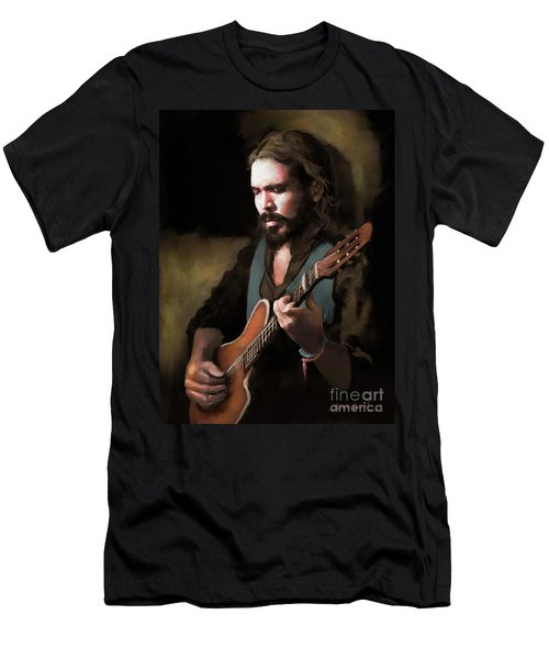 Spanish Guitar - El Javi Men's T-Shirt (Athletic Fit)