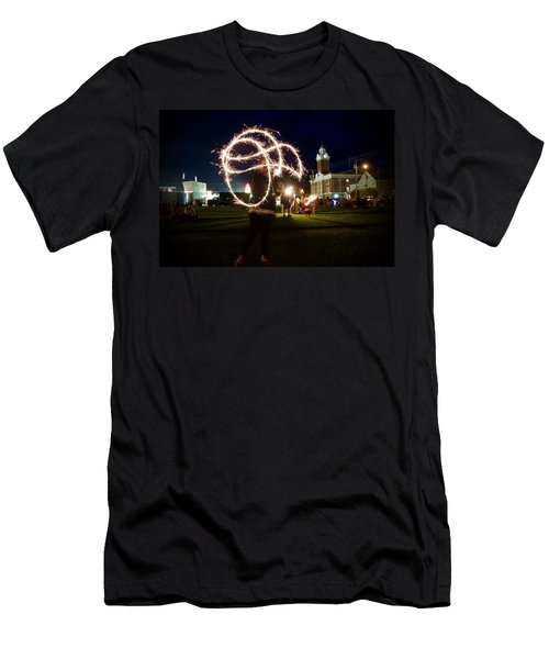 Sparkler Art Men's T-Shirt (Athletic Fit)