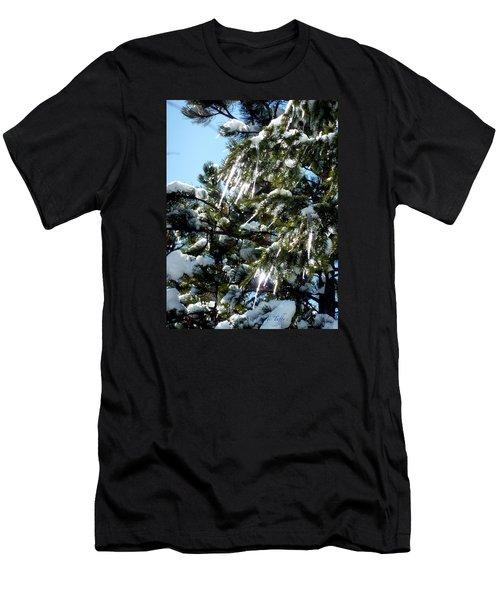 Sparkling Icicles  Men's T-Shirt (Athletic Fit)