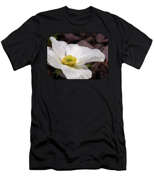 Sparkling White Anemone Men's T-Shirt (Athletic Fit)
