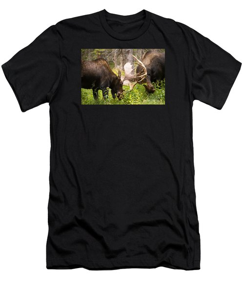 Men's T-Shirt (Slim Fit) featuring the photograph Sparring  by Aaron Whittemore