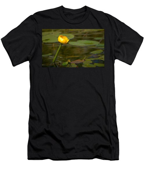 Men's T-Shirt (Slim Fit) featuring the photograph Spatterdock by Jouko Lehto
