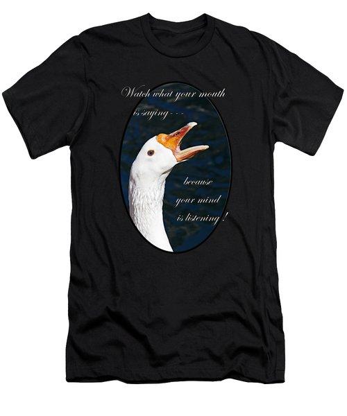 Speak Wisely Men's T-Shirt (Athletic Fit)