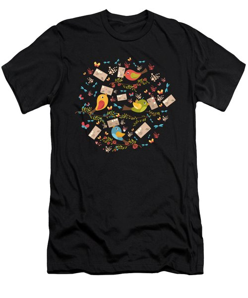 Special Springtime Delivery From Little Birds Pattern Men's T-Shirt (Athletic Fit)