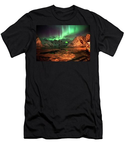 Spectacular Night In Lofoten 1 Men's T-Shirt (Athletic Fit)