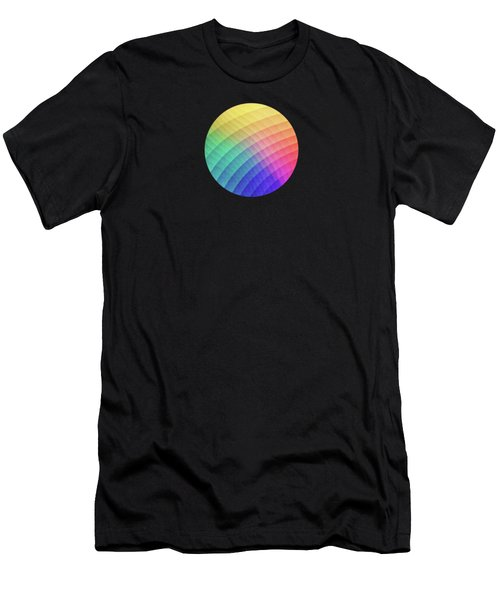 Spectrum Bomb Fruity Fresh Hdr Rainbow Colorful Experimental Pattern Men's T-Shirt (Athletic Fit)