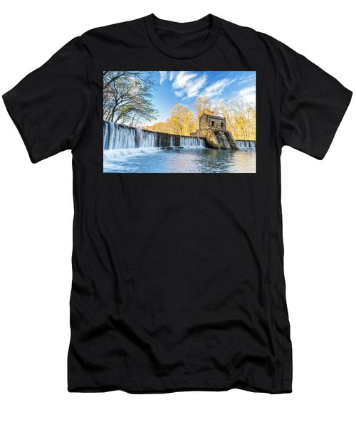 Speedwell Dam Waterfall Men's T-Shirt (Athletic Fit)