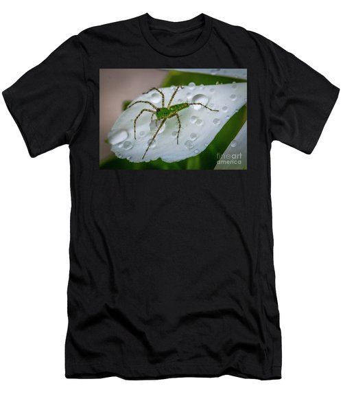 Spider And Flower Petal Men's T-Shirt (Athletic Fit)