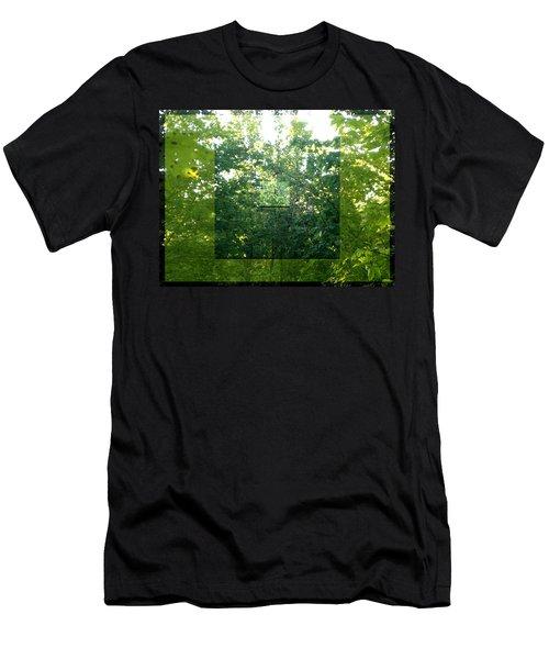 Spider-web Squares Men's T-Shirt (Athletic Fit)