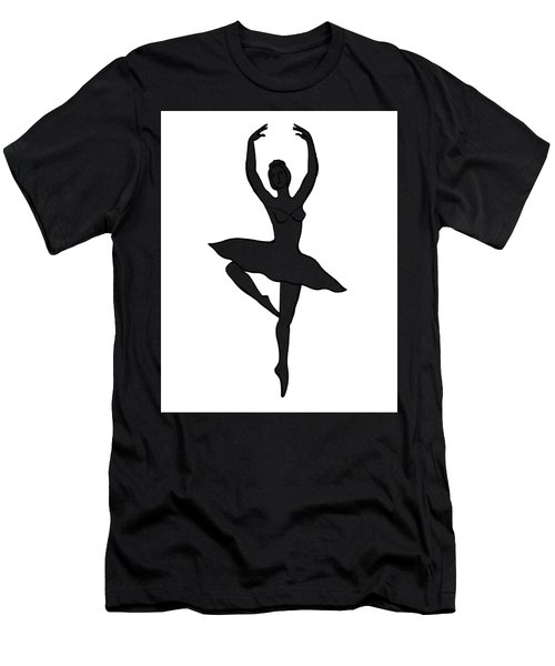 Spinning Ballerina Silhouette Men's T-Shirt (Athletic Fit)