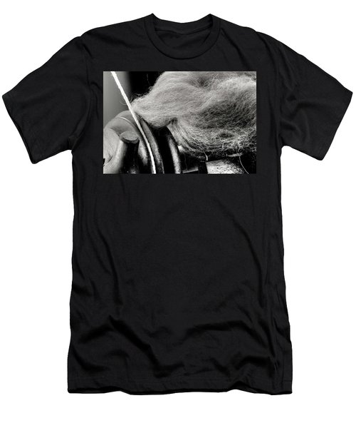 Spinning Wheel And Wool Men's T-Shirt (Athletic Fit)