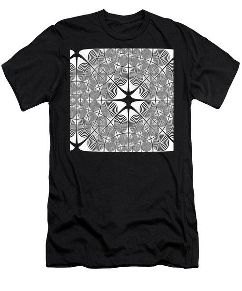 Spiral Abstract 7 Colour Choice Men's T-Shirt (Slim Fit) by Barbara Moignard