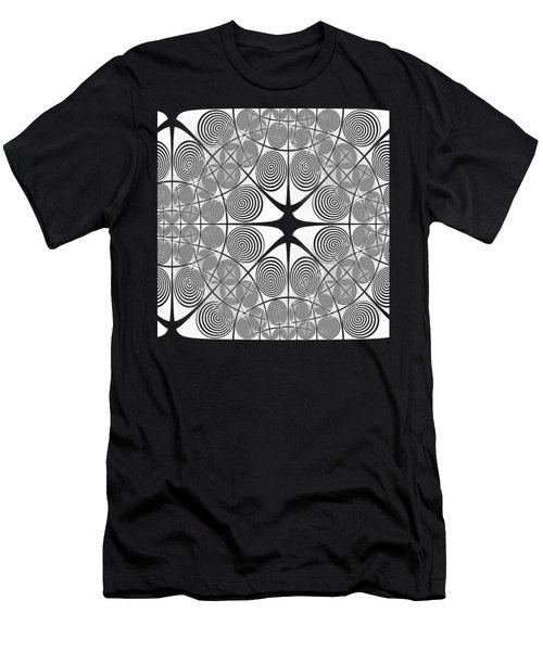 Spiral Abstract 7 Colour Choice Men's T-Shirt (Athletic Fit)
