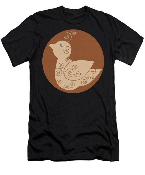 Spiral Bird Men's T-Shirt (Athletic Fit)