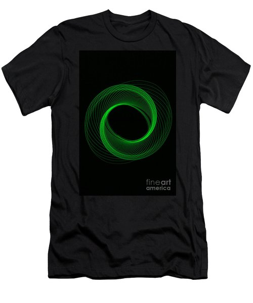 Spiral Green Men's T-Shirt (Athletic Fit)