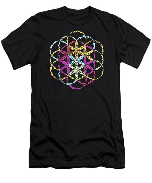 Spiral Of Color Men's T-Shirt (Athletic Fit)