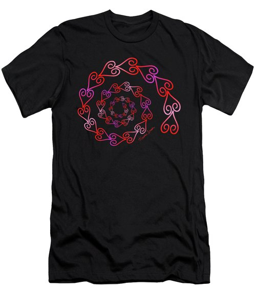 Spiral Of Hearts Men's T-Shirt (Athletic Fit)