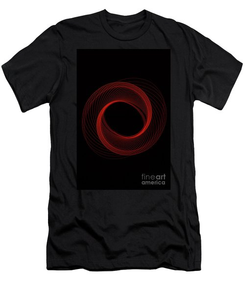 Spiral Red Men's T-Shirt (Athletic Fit)