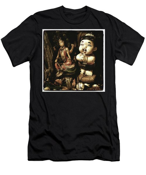 Men's T-Shirt (Athletic Fit) featuring the photograph Spirit Cemetery. When A Business Or by Mr Photojimsf