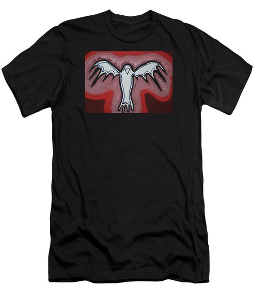 Spirit Crow Original Painting Men's T-Shirt (Athletic Fit)