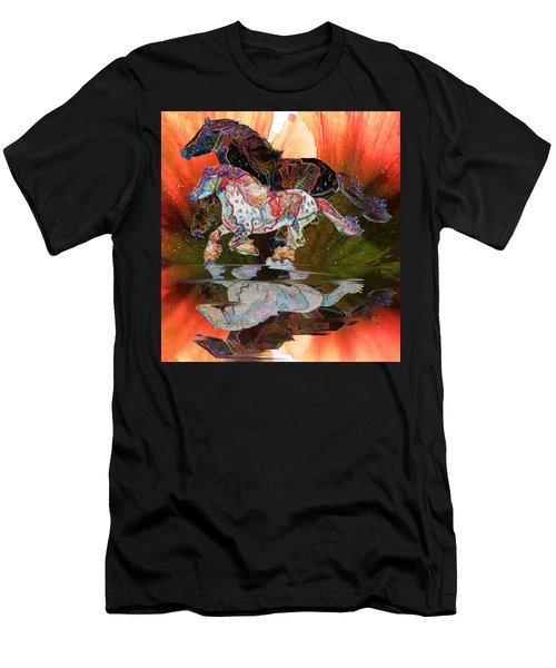 Spirit Horse II Leopard Gypsy Vanner Men's T-Shirt (Slim Fit) by Michele Avanti