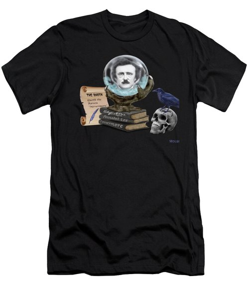 Spirit Of Edgar A. Poe Men's T-Shirt (Slim Fit) by Glenn Holbrook