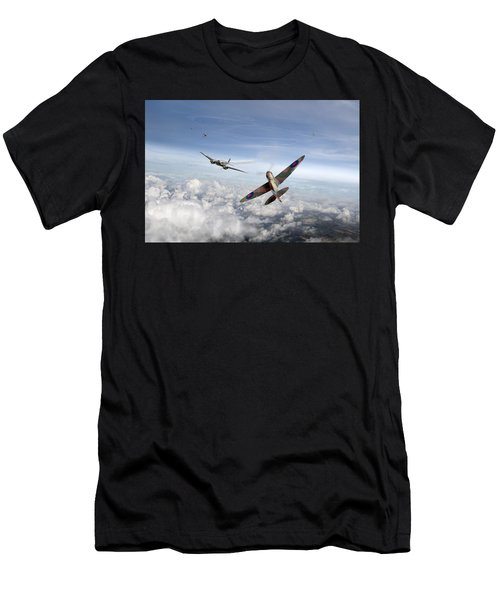 Spitfire Attacking Heinkel Bomber Men's T-Shirt (Athletic Fit)