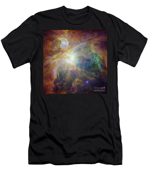 Spitzer And Hubble Create Colorful Masterpiece Men's T-Shirt (Athletic Fit)
