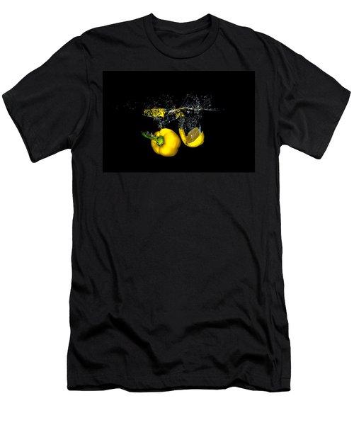 Splash Of  Pepper And Lemon Men's T-Shirt (Athletic Fit)