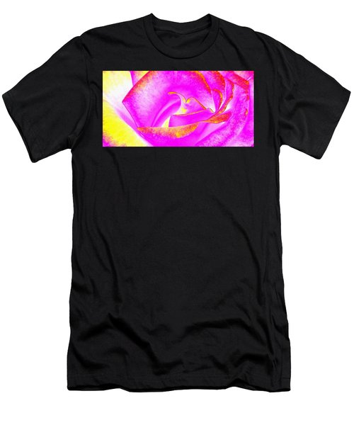 Men's T-Shirt (Slim Fit) featuring the mixed media Splendid Rose Abstract by Will Borden