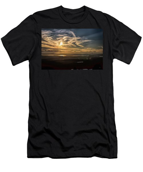 Men's T-Shirt (Athletic Fit) featuring the photograph Splendorous Sunset by John M Bailey
