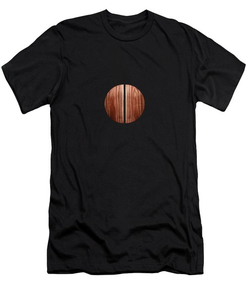 Split Circle Red Men's T-Shirt (Athletic Fit)
