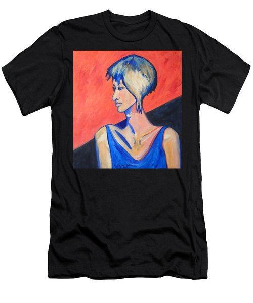 Men's T-Shirt (Slim Fit) featuring the painting Split Personality by Esther Newman-Cohen
