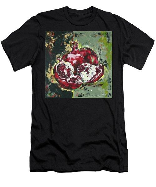 Split Pomegranate Men's T-Shirt (Athletic Fit)