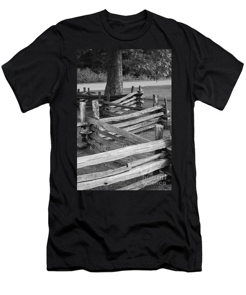 Men's T-Shirt (Slim Fit) featuring the photograph Split Rail Fence by Eric Liller