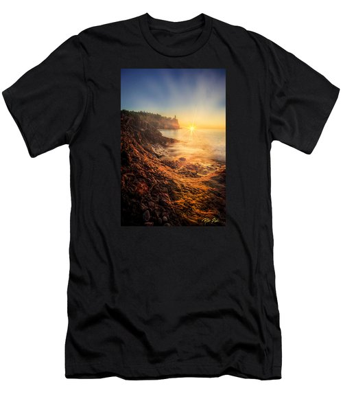 Men's T-Shirt (Athletic Fit) featuring the photograph Split Rock Glory by Rikk Flohr