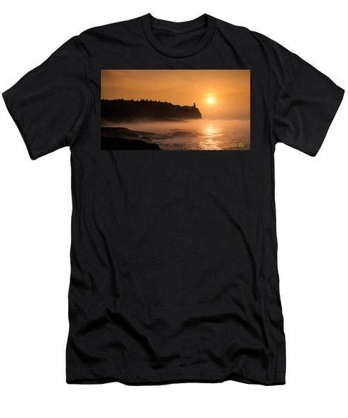 Split Rock's Morning Glow Men's T-Shirt (Athletic Fit)