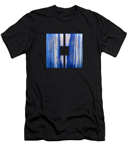 Split Square Blue Men's T-Shirt (Athletic Fit)