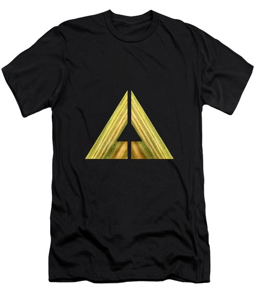 Split Triangle Green Men's T-Shirt (Athletic Fit)