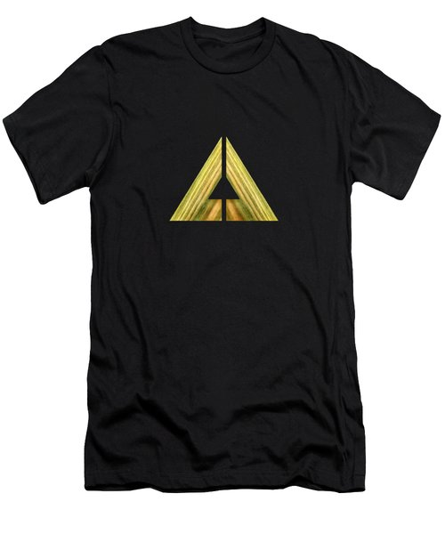 Split Triangle Green Men's T-Shirt (Athletic Fit)