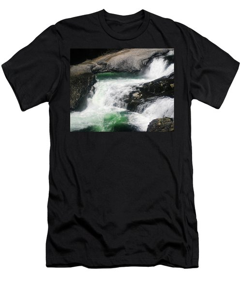 Spokane Water Fall Men's T-Shirt (Athletic Fit)