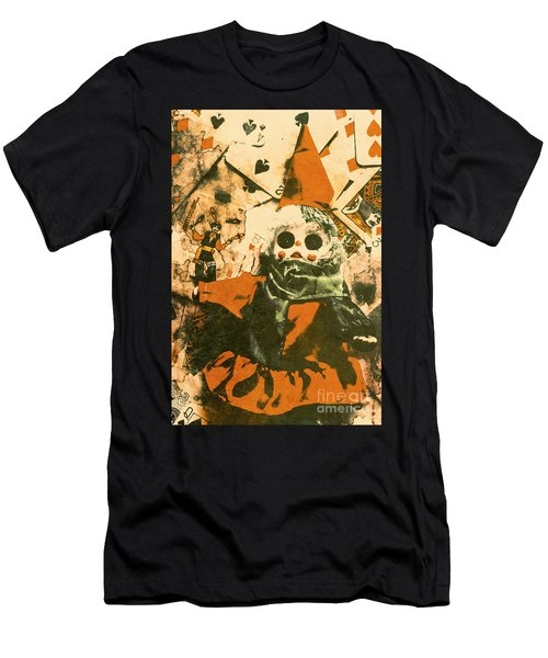 Spooky Carnival Clown Doll Men's T-Shirt (Athletic Fit)