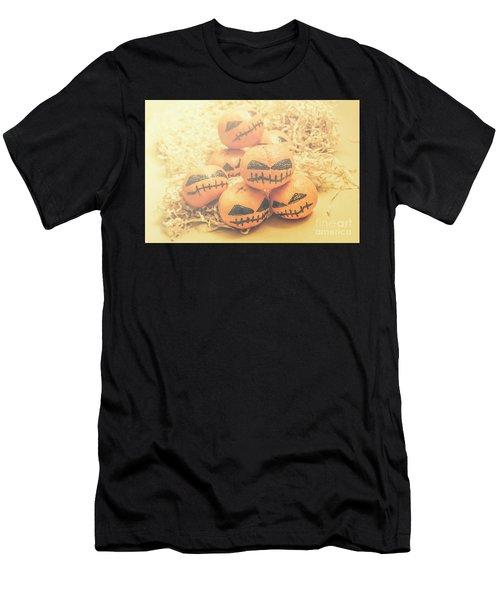 Spooky Halloween Oranges Men's T-Shirt (Athletic Fit)