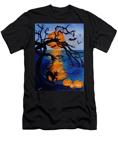 Spooky Hollow - Painting Men's T-Shirt (Athletic Fit)