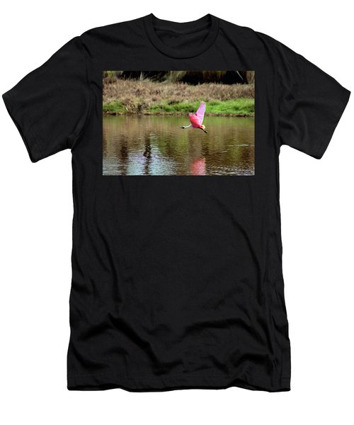 Spoonbill In Flight Men's T-Shirt (Athletic Fit)
