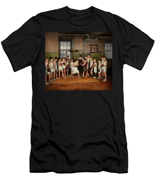 Men's T-Shirt (Slim Fit) featuring the photograph Sport - Boxing - Fists Of Fury 1924 by Mike Savad