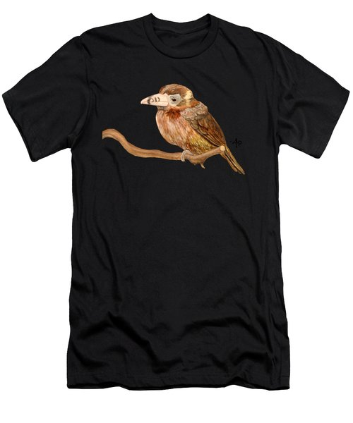 Men's T-Shirt (Athletic Fit) featuring the painting Spot-billed Toucanet by Angeles M Pomata